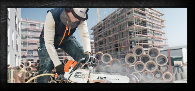 STIHL equipment construction site