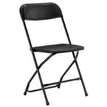 BLACK FOLDING CHAIR $1.50
