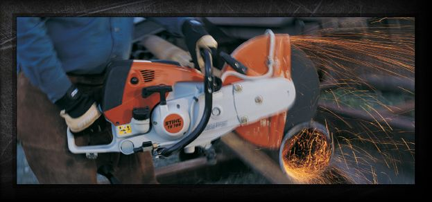 STIHL equipment cutting metal